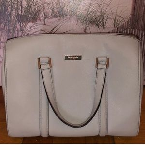 Kate Spade Gray Leather Dome Satchel
